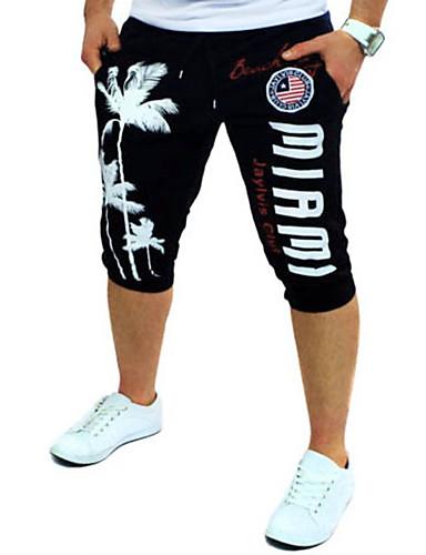 Aktivní / Základní Denní Sport Volné / Aktivní / Kalhoty chinos Kalhoty - Písmeno Tisk Bavlna Červená Modrá Světle šedá L XL XXL