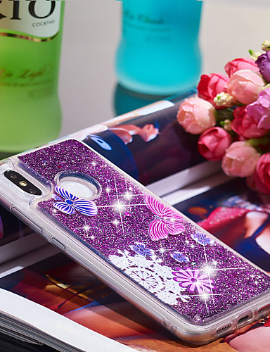 Θήκη Za Xiaomi Xiaomi Mi 8 Otporno na trešnju / Šljokice Stražnja maska Rukav leptir / Šljokice Mekano TPU