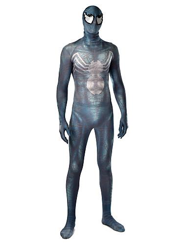 Zentai odijela Odijelo za kožu Puno radno odijelo uz tijelo Super Heroes Dječji Odrasli Lycra Cosplay Nošnje Muškarci Žene Svjetlo siva Print Božić Halloween New Year