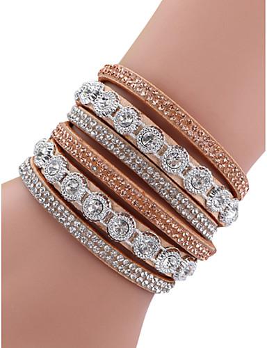 abordables Accessoires Femme-Femme Alliage Mode Diamant Bloc de Couleur / bracelet