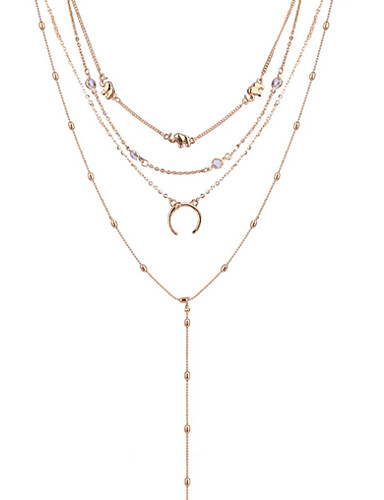 ženský vícevrstvý slitinový náhrdelník