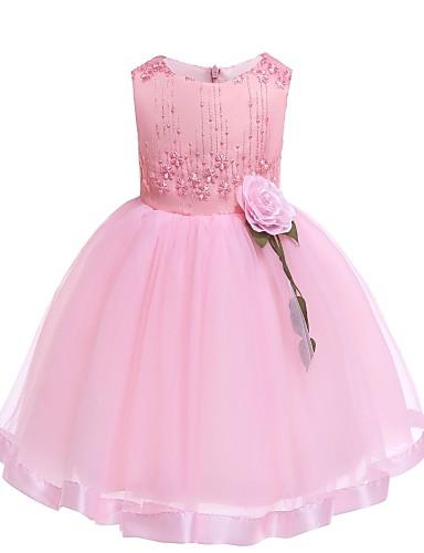 שמלה ללא שרוולים פרחוני בנות ילדים