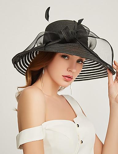billige Hatte & Imponeringer-polyester / organza Kentucky Derby Hat / fascinators / Hodepryd med Lag-på-lag 1 Deler Fest / aften / Forretning / Seremoni / Bryllup Hodeplagg