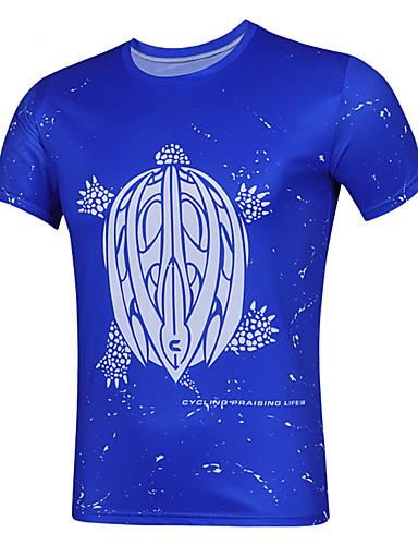 cheap Cycling Clothing-cheji® Men's Short Sleeve Cycling Jersey Blue Orange+White Royal Blue Bike Jersey Top Quick Dry Sports Terylene Mountain Bike MTB Road Bike Cycling Clothing Apparel