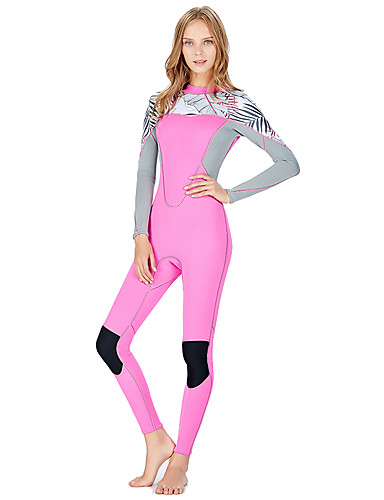 SLINX Women s Full Wetsuit 2mm SCR Neoprene Diving Suit Quick Dry UV  Resistant High Elasticity Long Sleeve Back Zip Patchwork Autumn   Fall  Spring Summer   ... b8b2dcc0c