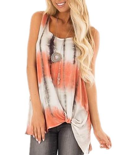billige Dametopper-Skjorte Dame - Geometrisk Rosa