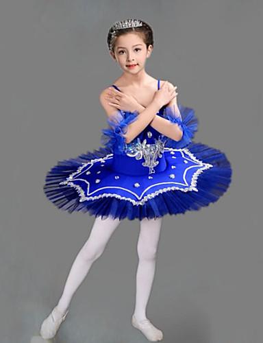 voordelige Shall We®-Kinderdanskleding / Ballet Outfits / Tutus&Rokken Meisjes Opleiding / Prestatie Polyester / Netstof Borduurwerk / Combinatie / Kristallen / Bergkristallen Mouwloos Kleding / Armbanden