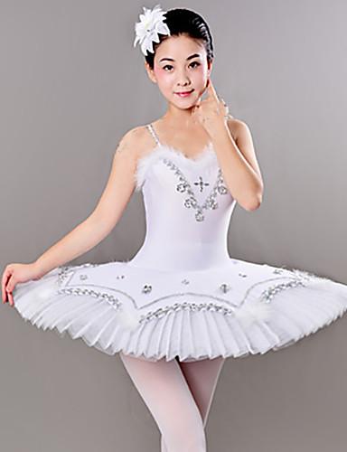 voordelige Shall We®-Ballet Jurken / Tutus&Rokken Dames Opleiding / Prestatie Polyester / Netstof Veren / Bont / Kristallen / Bergkristallen Mouwloos Kleding