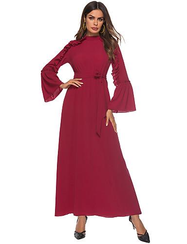 Intenzionale Per Donna Sofisticato Swing Vestito Tinta Unita Maxi #07199819 Con Una Reputazione Da Lungo Tempo