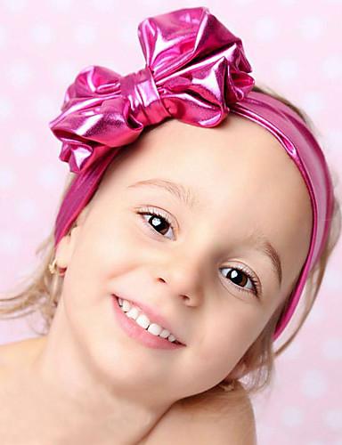 Lapset / Taapero Tyttöjen Perus / Makea Raidoitettu Rusetti Raion Hiuskoristeet Rubiini / Punastuvan vaaleanpunainen / Fuksia Yksi koko