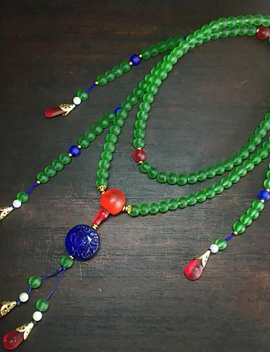 رخيصةأون مجوهرات الموضة-قلادة لون سادة نسائي أساسي