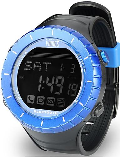 Naisten Urheilukello Ulkoilma Muoti Musta  Kumi Japani Digitaalinen Uima-allas Vedenkestävä Smart Bluetooth 100 m 1set Digitaalinen Yksi vuosi Akun käyttöikä / LCD / Panasonic CR2032