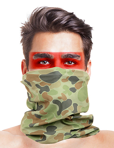 cheap Cycling Clothing-Balaclava Windproof Breathable Fast Dry Dust Proof Bike / Cycling Khaki fluorescent green Dark Green for Men's Adults' Ski / Snowboard Outdoor Exercise Motobike / Motorcycle Solid Colored 1 Piece