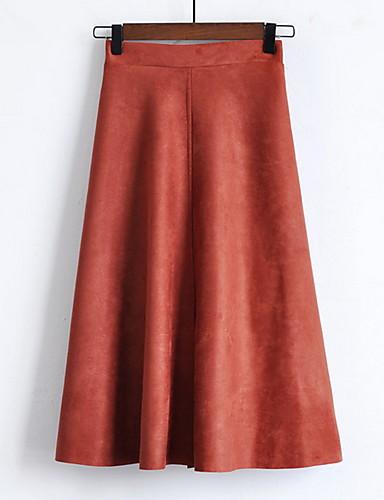 841d03159ac Χαμηλού Κόστους Γυναικείες Φούστες-Γυναικεία Κούνια Μακρύ Φούστες -  Μονόχρωμο. Γυναικεία Κούνια Μακρύ Φούστες - Μονόχρωμο