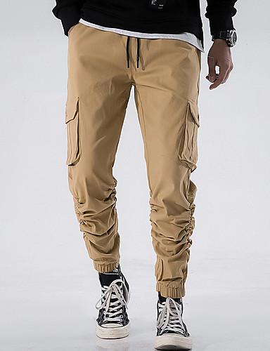 男性用 ベーシック カーゴパンツ パンツ - ソリッド ライトブラウン