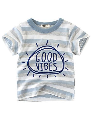 53b42b61242 Χαμηλού Κόστους Παιδικά ρούχα Hot Sales-Παιδιά Αγορίστικα Βασικό Ριγέ / Στάμπα  Στάμπα Κοντομάνικο Βαμβάκι