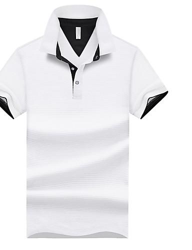 voordelige Herenpolo's-Heren Polo Effen Overhemdkraag Grijs