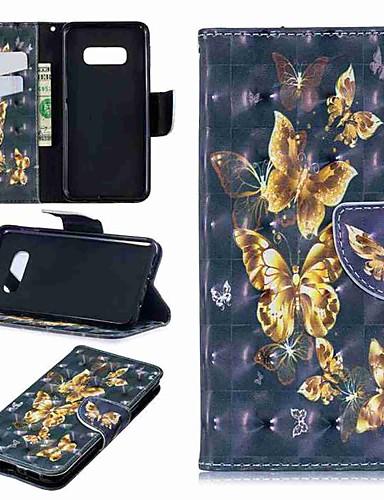 Etui Käyttötarkoitus Samsung Galaxy S9 / S9 Plus / S8 Plus Lomapkko / Korttikotelo / Tuella Suojakuori Perhonen Kova PU-nahka