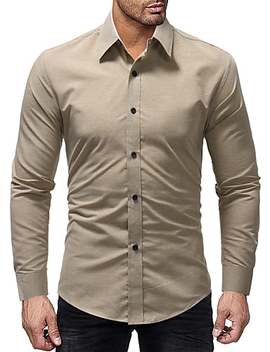 Hombre Camisa Un Color Azul Piscina XL