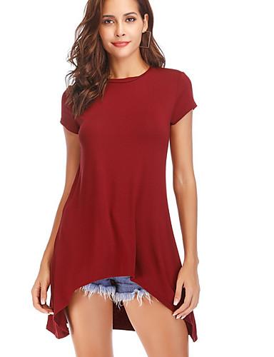 Dámské - Jednobarevné Tričko Štíhlý