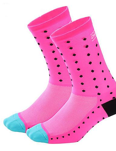 cheap Compression Clothing-Men's Women's Cycling Socks Compression Socks Breathable Sweat-wicking Pink Black / White Black / Blue Road Bike Mountain Bike MTB Basketball High Elasticity / Road Bike Cycling