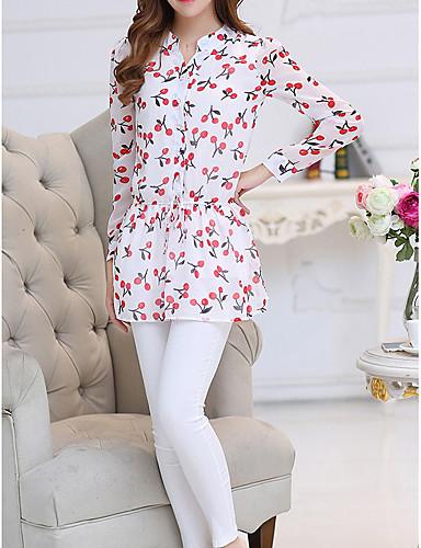 Acquista A Buon Mercato Blusa Per Donna Fantasia Geometrica Rosa Xl #07277271 Crease-Resistenza
