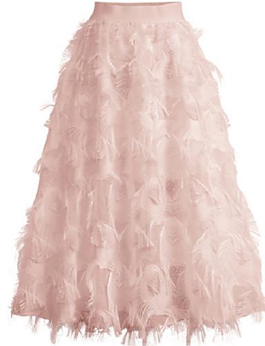povoljno Ženske hlače i suknje-Žene A kroj / Ljuljačka Tutus Suknje - Jednobojni Obala Crn Blushing Pink One-Size