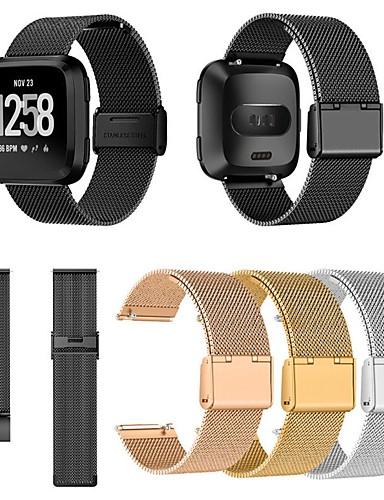 Watch Band için Fitbit Versa / Fitbit Versa Lite Fitbit Milan Döngüsü Metal / Paslanmaz Çelik Bilek Askısı