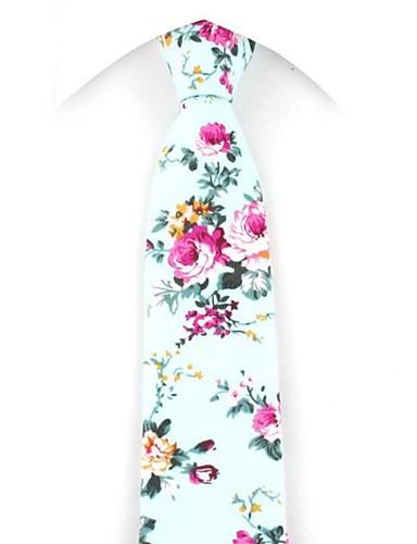 cheap Men's Ties & Bow Ties-Men's Party / Work / Active Necktie - Floral / Print / Jacquard