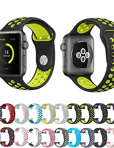 Watch Band için Apple Watch Series 4/3/2/1 Apple Spor Bantları Silikon Bilek Askısı