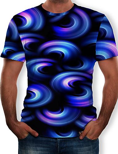 d38decac1 Men's T-shirt - Color Block / 3D / Graphic Print Round Neck Royal Blue XL