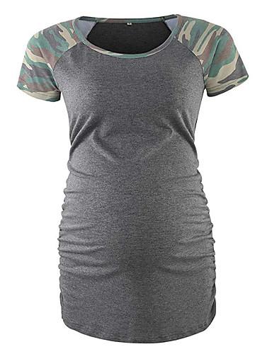T-shirt Per Donna Collage - Con Stampe, Camouflage Grigio M #07258145