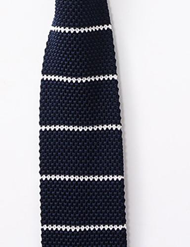 رخيصةأون ربطات العنق للرجال-ربطة العنق مخطط رجالي أساسي