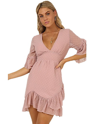 Amichevole Per Donna Elegante Linea A Vestito Tinta Unita Mini #07303311