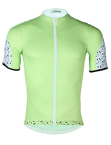 cheap Cycling Clothing-ILPALADINO Men's Short Sleeve Cycling Jersey - Mint Green Solid Color Bike Top UV Resistant Breathable Moisture Wicking Sports Elastane Terylene Mountain Bike MTB Road Bike Cycling Clothing Apparel