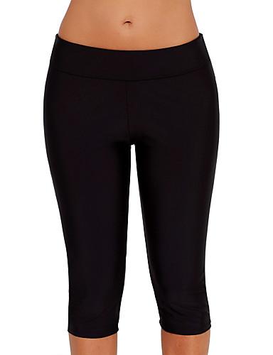 baratos Roupas de Mergulho & Camisas de Proteção-Mulheres Calça Legging de Mergulho Elastano Calças Natação Esportes Aquáticos Sólido Verão