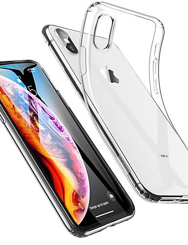 Pouzdro Uyumluluk Apple iPhone XS / iPhone XR / iPhone XS Max Şoka Dayanıklı / Ultra İnce / Şeffaf Arka Kapak Solid Yumuşak TPU