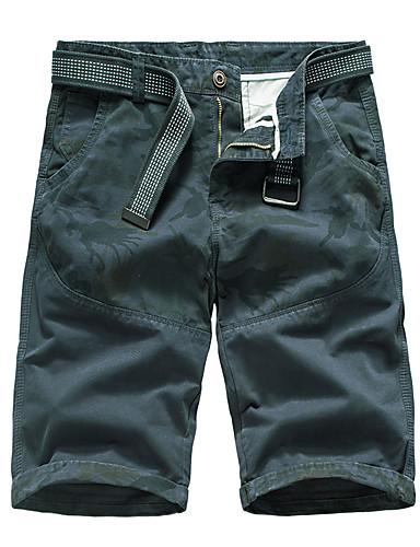 2019 Moda Per Uomo Essenziale Pantaloncini Pantaloni - Geometrica Grigio Scuro #07336455 Nutriente I Reni Alleviare I Reumatismi