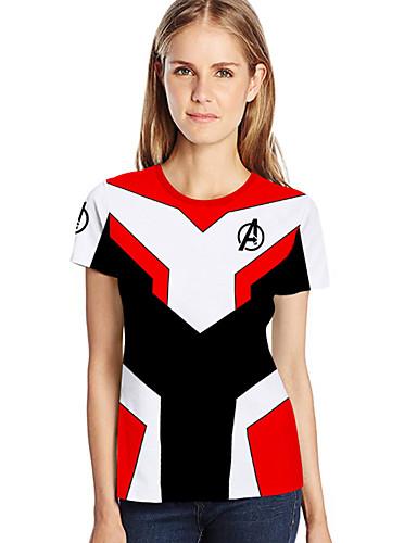a4b247965dbb Γυναικεία T-shirt Γεωμετρικό   3D   Κινούμενα σχέδια Στάμπα Λευκό XXXL.   18.58. USD  11.95 · Χαμηλού Κόστους Γυναικείες Μπλούζες-Γυναικεία ...