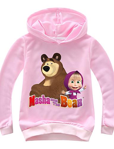 Děti / Toddler Dívčí Základní Tisk Tisk Dlouhý rukáv Bavlna / Spandex Mikinky Světlá růžová