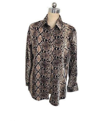 povoljno Majica-Majica Žene Životinja Kragna košulje Širok kroj, Print Bijela