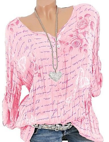 30cba0ed billige T-skjorter til damer-V-hals Store størrelser T-skjorte Dame