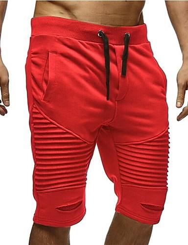 3968513fa4a Hombre Básico Chinos / Pantalones de Deporte Pantalones - Un Color Multi  capa Rojo Gris Oscuro Caqui L XL XXL