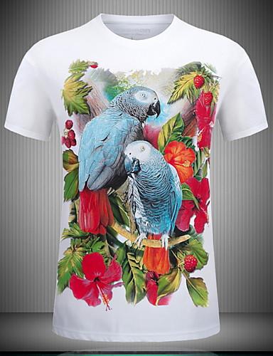 billige Topper til damer-Tynn T-skjorte Dame - Blomstret Hvit