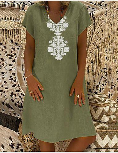 abordables Hauts pour Femme-Chemise Femme, Géométrique Col en V Ample Vert Claire