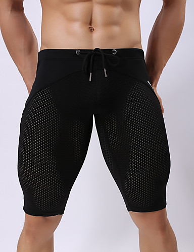 voordelige Herenondergoed & Zwemkleding-Netstof / Standaard Slip / G-string ondergoed Heren EU / VS maat 1 Stuk Medium Taille