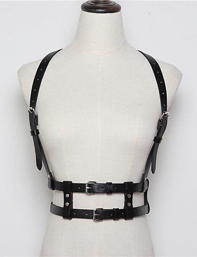 9a565ce95369 Doctor de plaga Steampunk Disfraz Hombre Mujer Arnés de cintura Cinturón  Cinturón de arnés Negro   Beige   Marrón Cosecha Cosplay Navidad Halloween