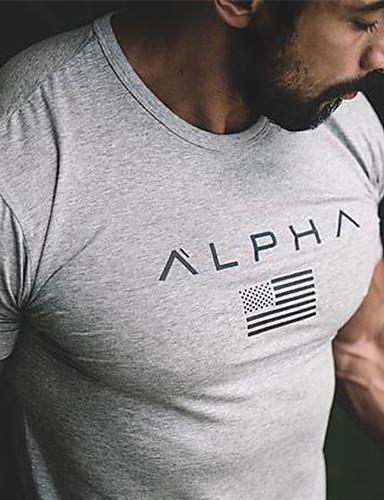 abordables Camisetas y Tops de Hombre-Hombre Camiseta Un Color Wine XL