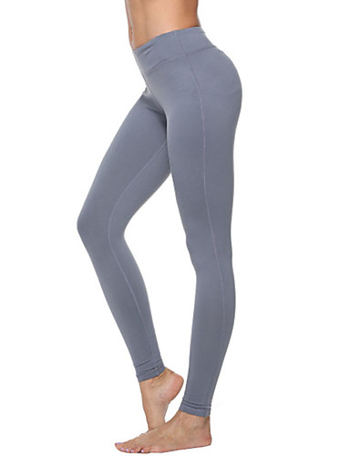 aed6ad0636419 Women's Yoga Pants Sports Solid Color Tights Running Fitness Gym Workout  Activewear Moisture Wicking Quick Dry Tummy Control Power Flex High  Elasticity ...