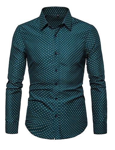 voordelige Herenoverhemden-Heren Grote maten - Overhemd Polka dot Wit